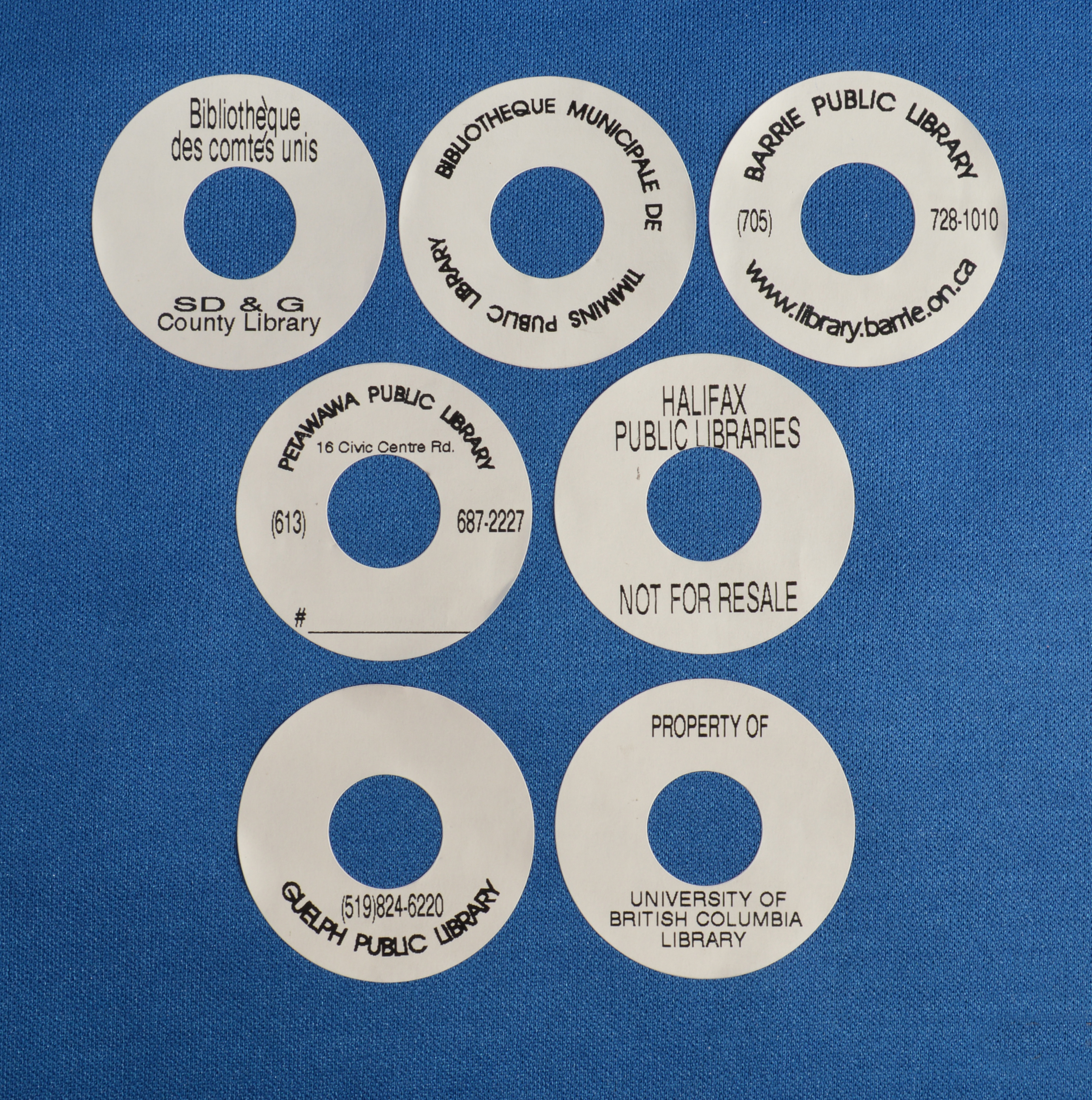 CD/DVD DONUT LABELS